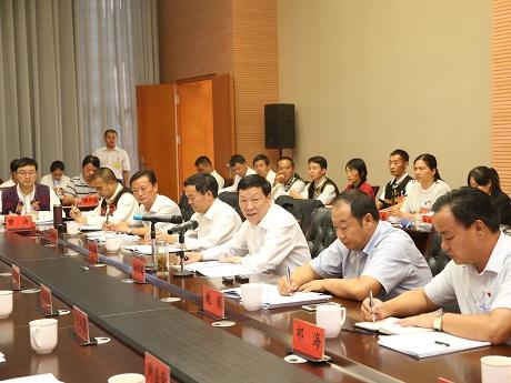 杨照辉参加景东代表团讨论审查党代会报告