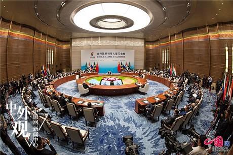 """中国网 外媒评金砖国家领导人厦门会晤:""""金砖+""""是重大新创意"""