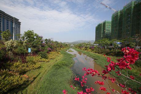 普洱市中心城区河道改造变美景