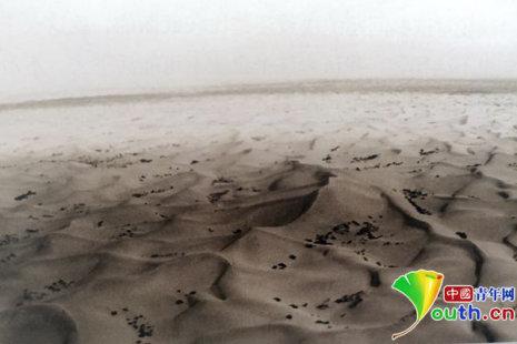 """80年代,被称为""""死亡之海""""的库布其沙漠。资料图"""