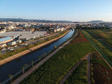 思茅河成城市新景观