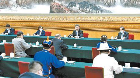 习近平在参加内蒙古代表团审议时强调坚持人民至上不断造福人民把以人民为中心的发展思想落实到各项决策部署和实际工作之中